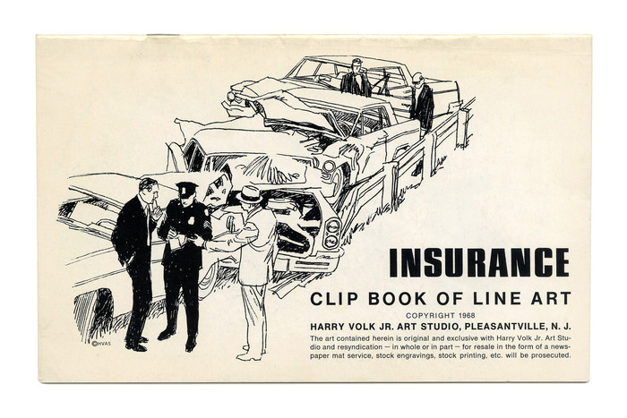 """Insurance"" (No. 495) ft. . The small text on this cover is set in ."