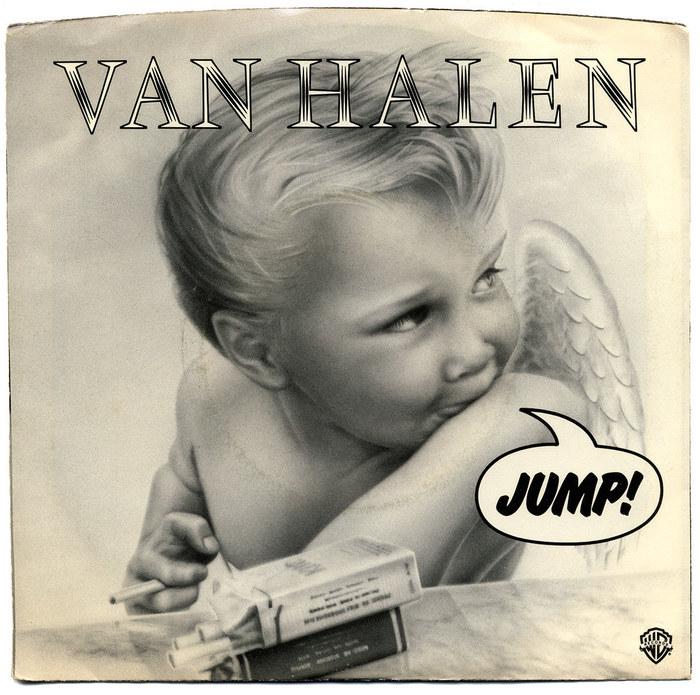 "Van Halen – ""Jump"" / ""House Of Pain"" single sleeve 1"