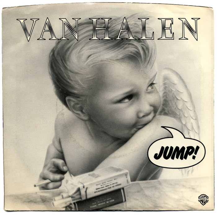 "Van Halen – ""Jump"" / ""House Of Pain"" single sleeve and 1984 album cover 1"