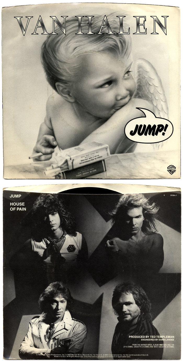 "Van Halen – ""Jump"" / ""House Of Pain"" single sleeve 2"