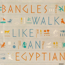 "Bangles – ""Walk like an Egyptian"" single sleeve"