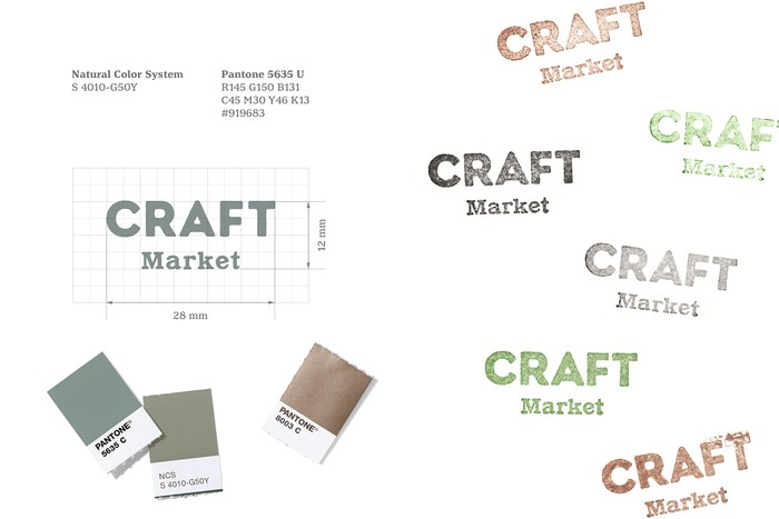 CRAFT Market logo and colour palette