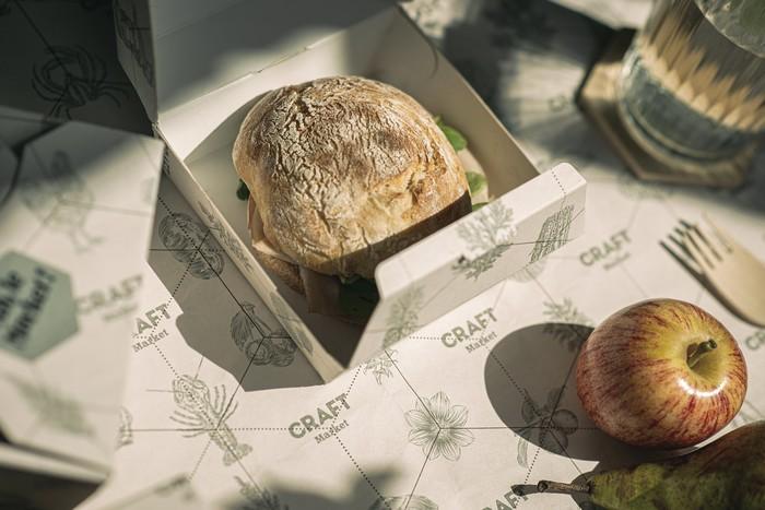 Takewaway packaging detail