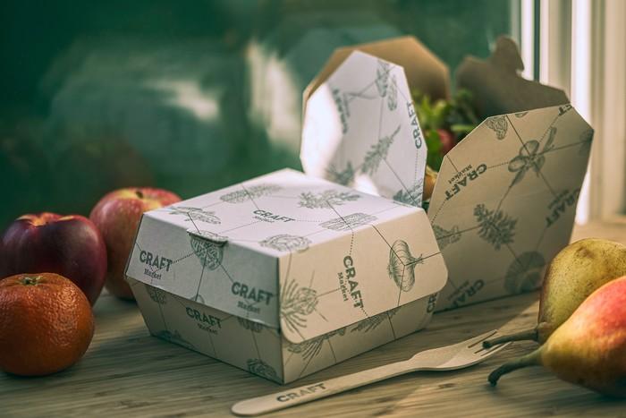 Takeaway packaging detail