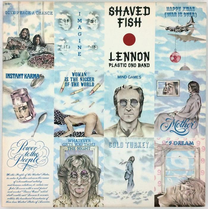 Lennon / Plastic Ono Band – Shaved Fish album art 1