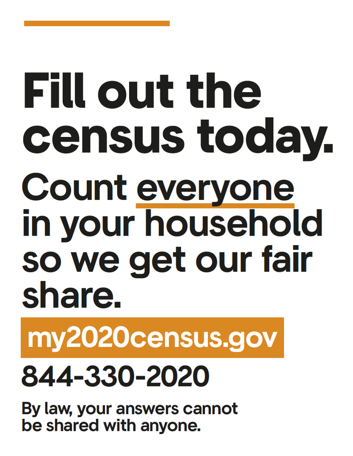 My 2020 census poster series 3
