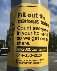 My 2020 census poster series