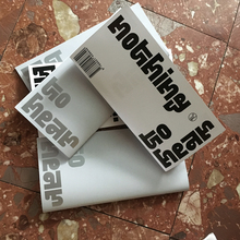 <cite>Nothing to hear</cite> booklet and exhibition poster