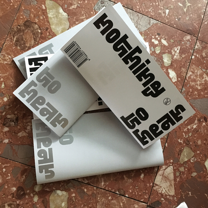 Nothing to hear booklet and exhibition poster 1