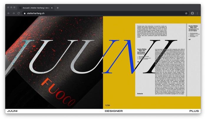 Atelier Harfang website 1