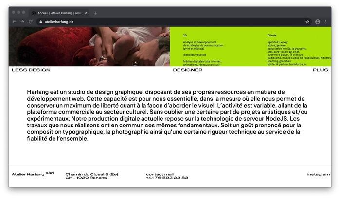 Atelier Harfang website 6