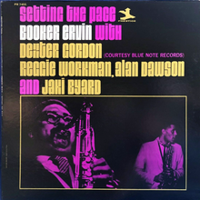 Booker Ervin with Dexter Gordon et al. – <cite>Setting the Pace</cite> album art