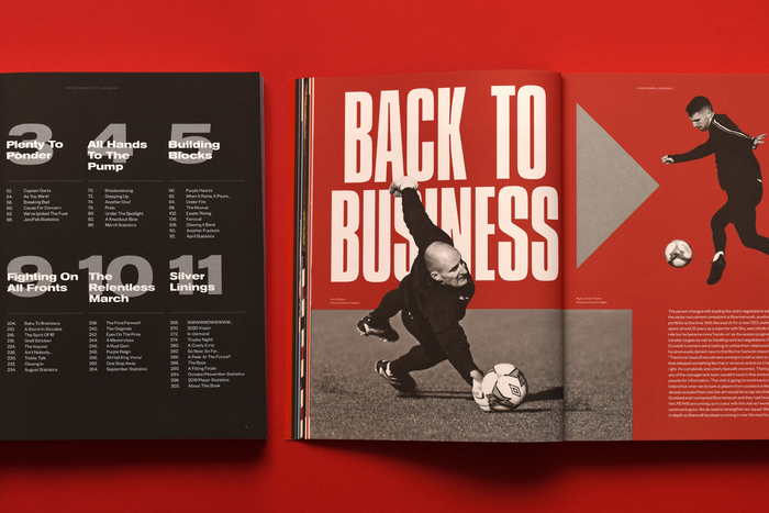 """Table of contents ft.  Extended; """"Back to Business"""" in all-caps ."""