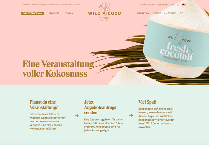 Wild & Coco packaging and visual identity 11