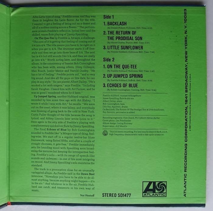 Freddie Hubbard – Backlash album art 3