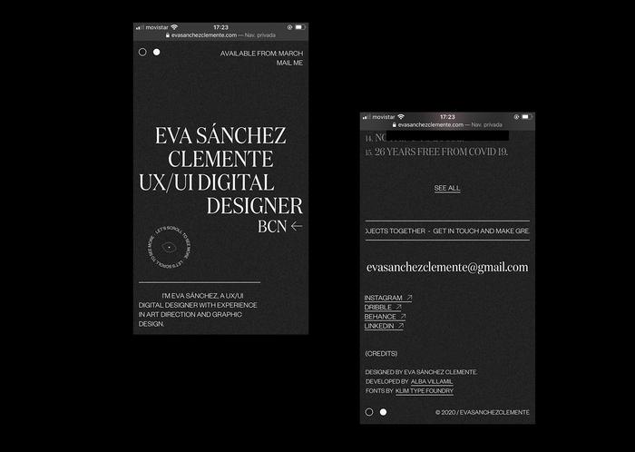 Eva Sánchez portfolio website 2020 4