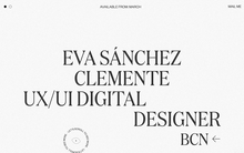 Eva Sánchez portfolio website 2020