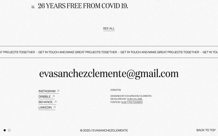 Eva Sánchez portfolio website 2020 3