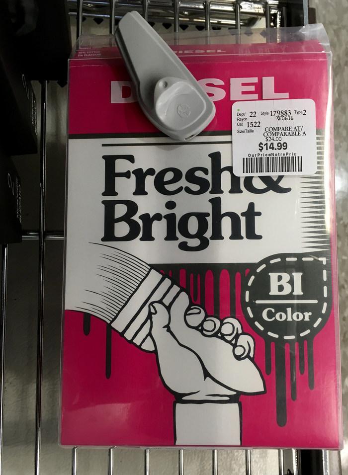 Diesel Fresh & Bright packaging 2
