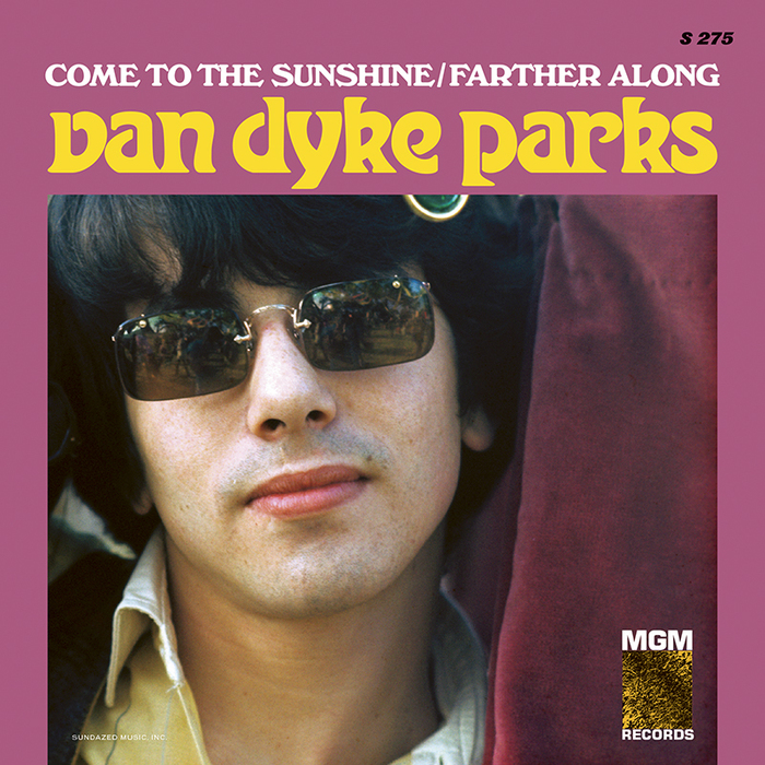 """Van Dyke Parks – """"Come to the Sunshine"""" / """"Farther Along"""" single cover"""