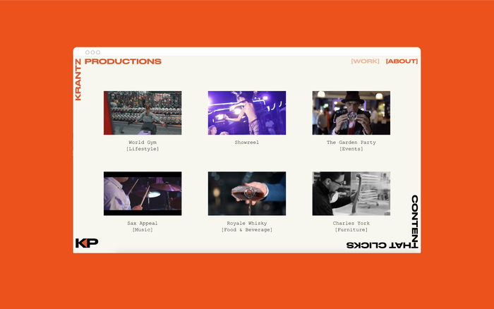 Krantz Productions visual identity and website 4