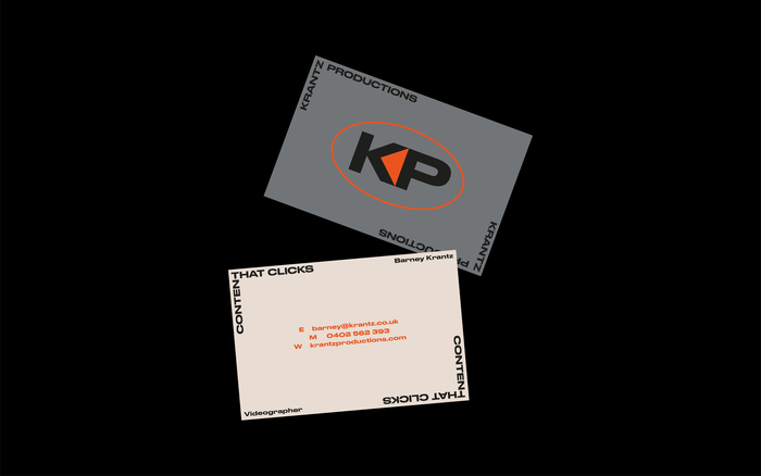 Krantz Productions visual identity and website 3