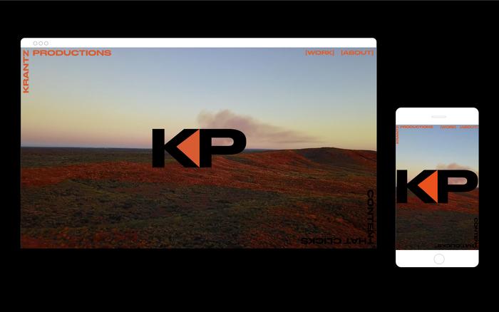 Krantz Productions visual identity and website 5