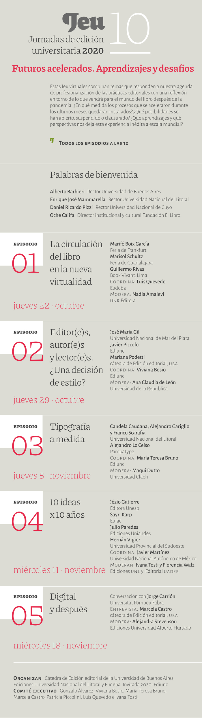 Jornadas de Edición Universitaria 10 2