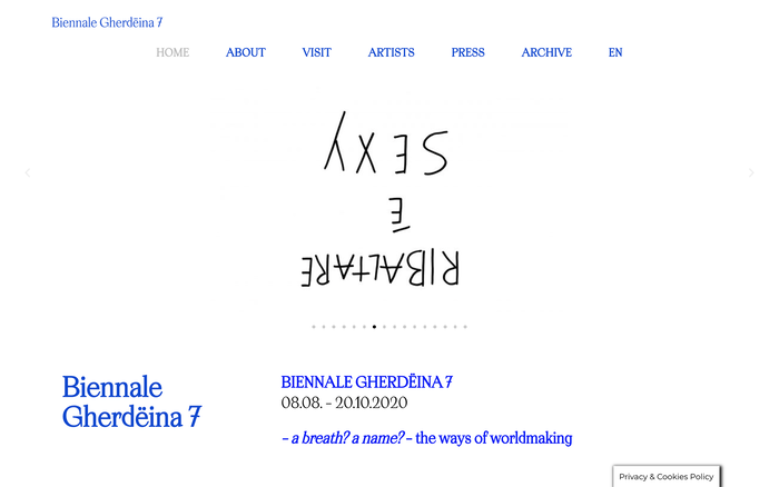 Biennale Gherdëina website 1