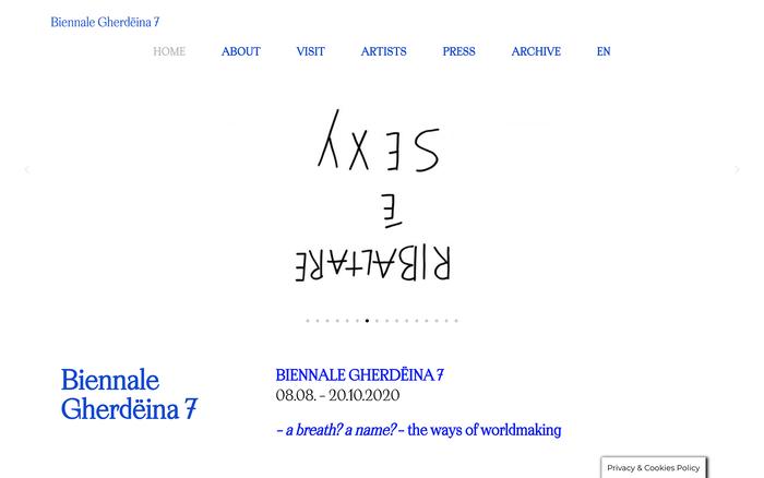 Biennale Gherdëina website 1