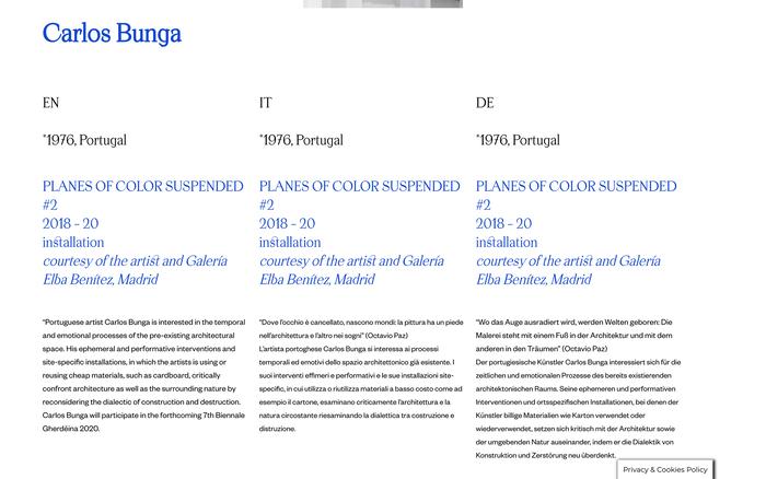Biennale Gherdëina website 5