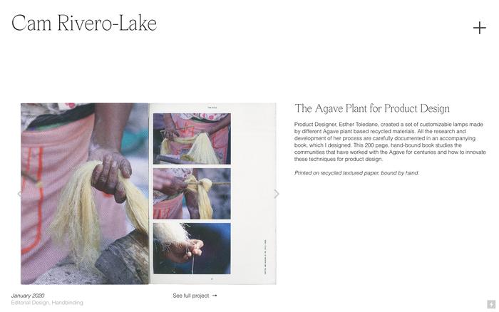 Cam Rivero-Lake portfolio website 1