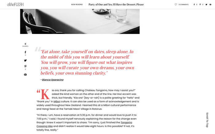 Of the Flesh website 5