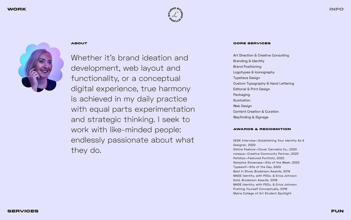 Libby Conolly portfolio website 2