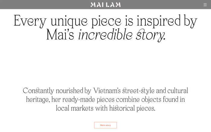Mailam portfolio website 3