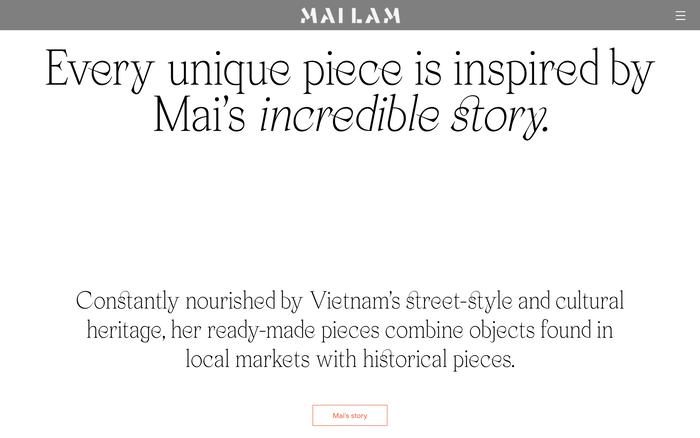 Mailam portfolio website 3