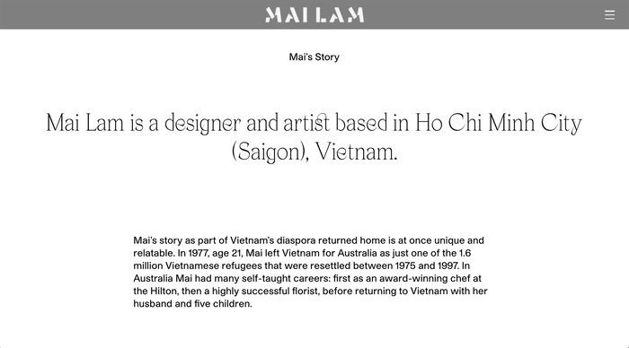 Mailam portfolio website 6