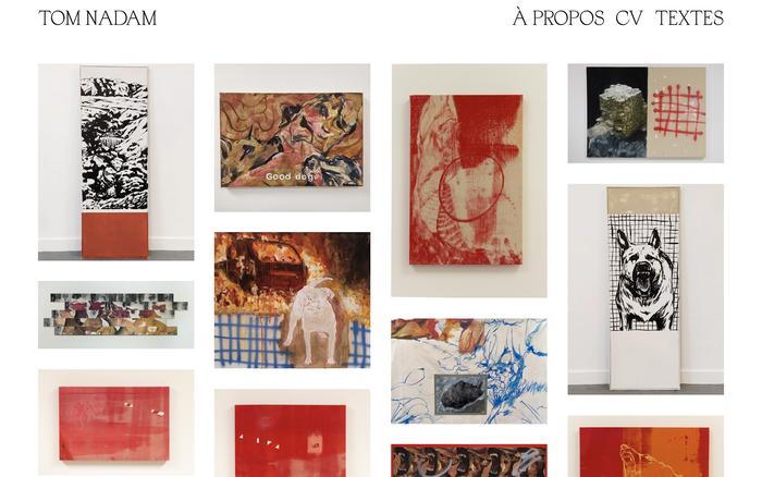 Tom Nadam portfolio website 1
