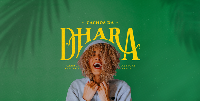 Cachos da Dhara visual identity 5