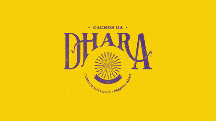 Cachos da Dhara visual identity 1