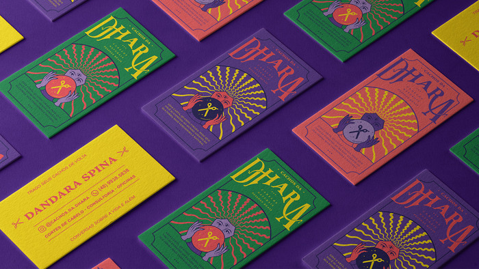 Cachos da Dhara visual identity 2
