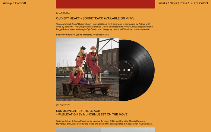 Astrup & Bordorff website 5