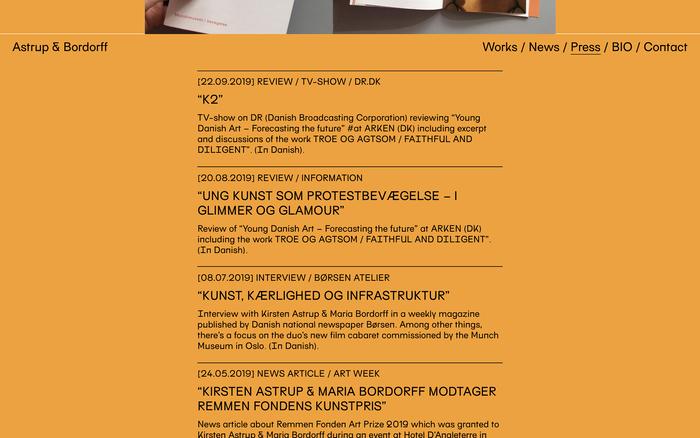 Astrup & Bordorff website 6
