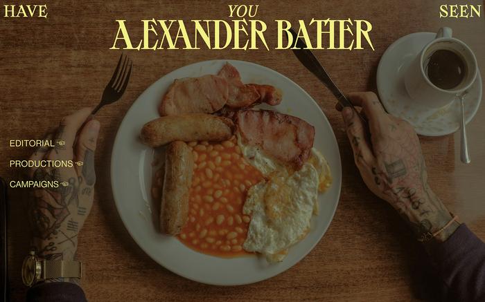 Alexander Bather portfolio website 3