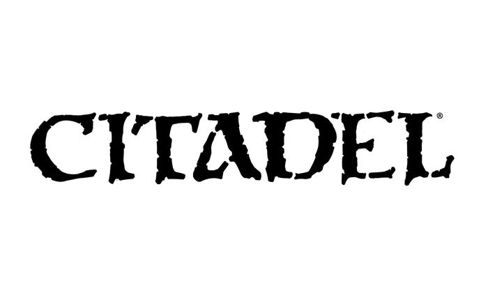 Citadel Miniature Warhammer 40,000 kit packaging and Citadel logo 2