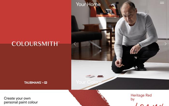 Coloursmith website 1
