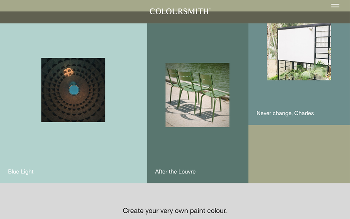 Coloursmith website 2