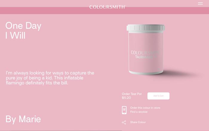 Coloursmith website 4