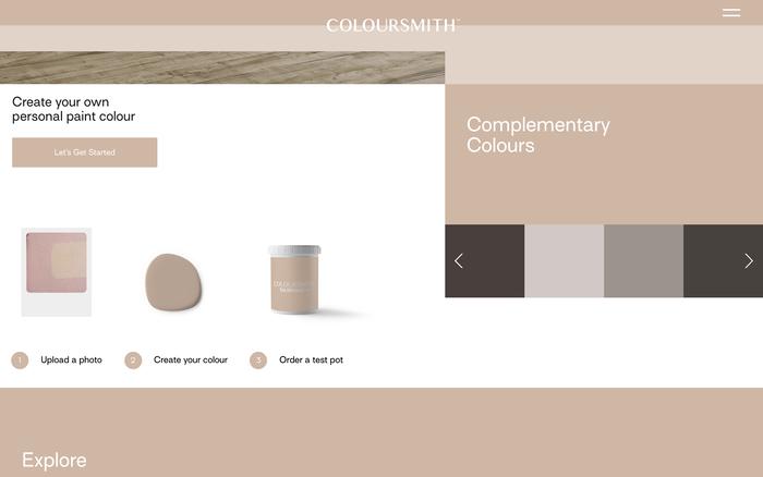 Coloursmith website 5