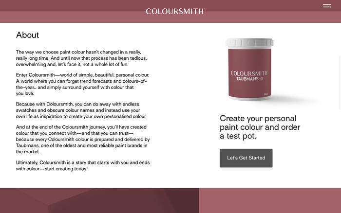 Coloursmith website 6